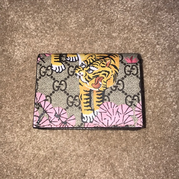 low priced 71236 a60e1 AUTHENTIC Gucci Gg Supreme Bengal Card Case Wallet